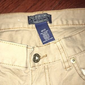 Polo jean company tan with with brown stitching
